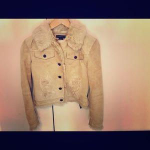 Leather & fur Bebe jacket